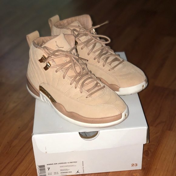 c3d5b08694ce Jordan Shoes - Air Jordan 12 retro Vachetta Tan  Metallic Gold